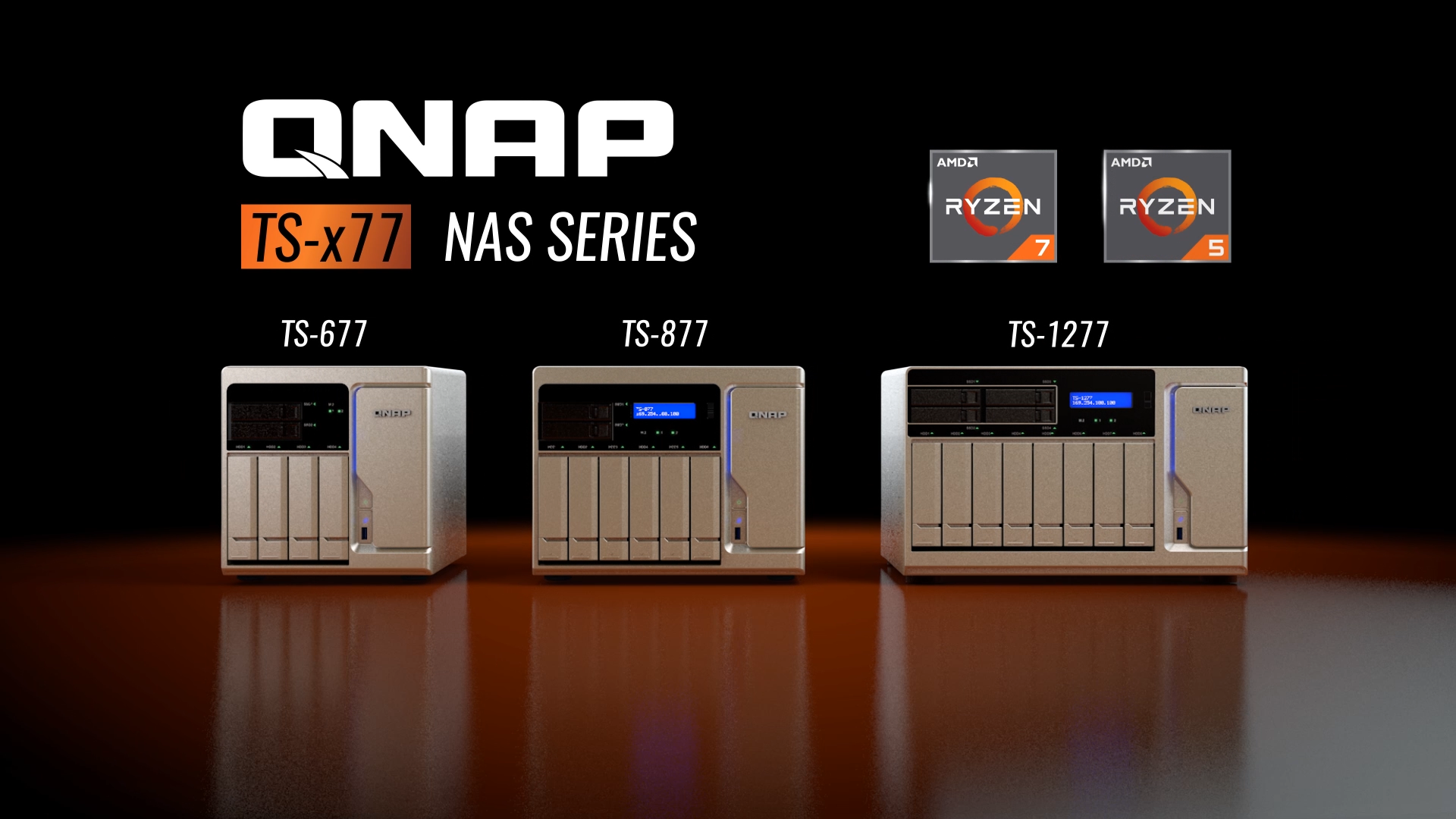 QNAP TS-x77 World's first Ryzen NAS